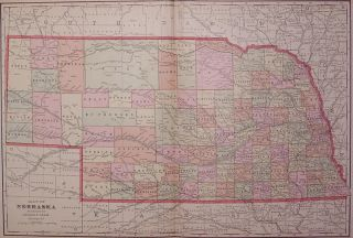 Map of Nebraska. George F. CRAM.