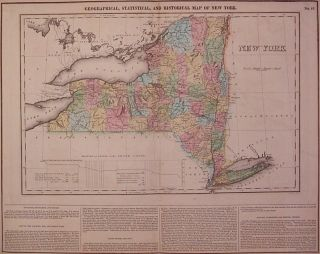 Geographical, Statistical, and Historical Map of New York. CAREY, LEA