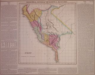 Geographical, Historical, and Statistical Map of Peru. CAREY, LEA