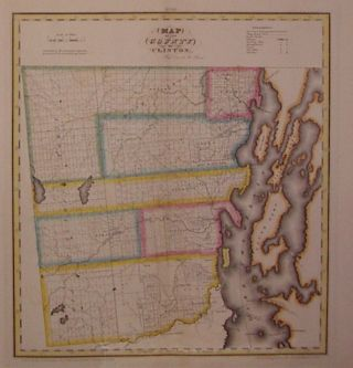 Map of the County of Clinton. David H. BURR.
