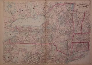 Asher & Adams' New York and Part of Ontario. ASHER, ADAMS.