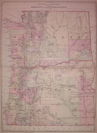 County and Township of Oregon and Washington. Samuel Augustus Jr MITCHELL.
