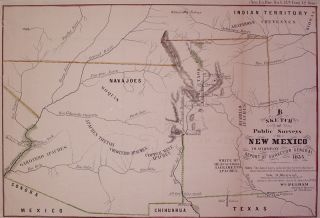 Sketch of Public Surveys in New Mexico to accompany Report of Surveyor General 1855. Wm PELHAM.