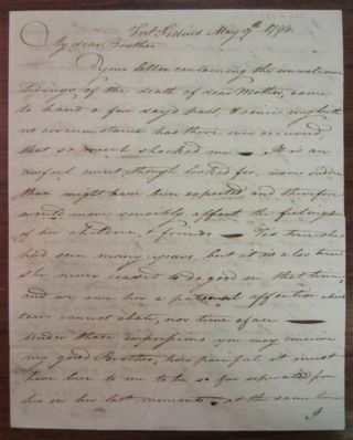 Autographed Letter Signed. Staats MORRIS, 1765 - 1826