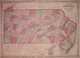 Johnson's Pennsylvania and New Jersey. A. J. JOHNSON