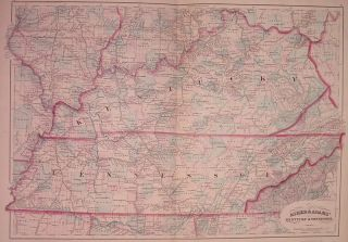 Asher & Adams' Kentucky & Tennessee. ASHER, ADAMS.