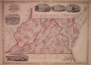 Johnson's Virginia, Delaware, Maryland & West Virginia. A. J. JOHNSON.