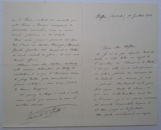 Autographed Letter Signed in French. Vincent D'INDY, 1851 - 1931