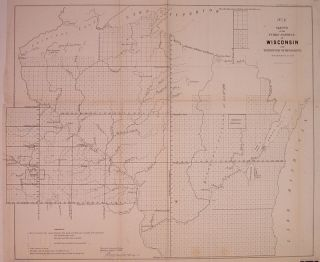 No. 1) Sketch of the Public Surveys in Wisconsin and Territory of Minnesota. Lewis WARNER