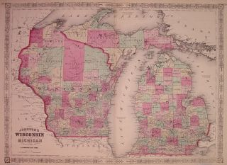 Johnson's Wisconsin and Michigan. A. J. JOHNSON