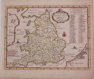 A Traveling Mapp of England & Dominion of Wales. John SELLER.