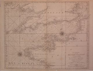 A Chart of the British Channel; Comprehending the Southern Coasts of England and Wales: with the Coast of France from Dunkirk to the River of Nantes. Thomas JEFFERYS.