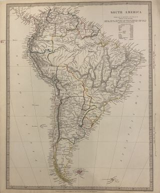 South America. SDUK, Society for the Diffusion of Useful Knowledge
