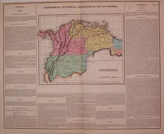 Geographical, Historical, and Statistical Map of Colombia. CAREY, LEA