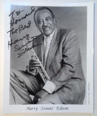 "Signed Photograph. Harry ""Sweets"" EDISON"