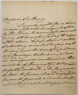 Autographed Letter Signed. King of England GEORGE IV, 1762 - 1830