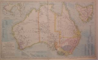 Statistical Map of Australia. SON LETTS, CO