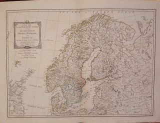 A New Map of the Northern States containing the Kingdoms of Sweden, Denmark and Norway; with the...