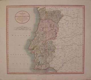 A New Map of the Kingdom of Portugal Divided into its Provinces. John CARY