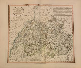 A New Map of Swisserland. Divided into its Cantons and Dependencies, including the Grisons &c&c....