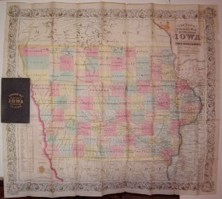 Colton's, Township Map of the State of Iowa Compiled from the United States Surveys, & Other...