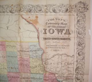 Colton's, Township Map of the State of Iowa Compiled from the United States Surveys, & Other Authentic Surveys