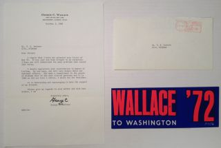 "Autographed Letter Signed ""Lurleen"" as Governor of Alabama"