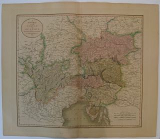 A New Map of the Circle of Austria. John CARY.