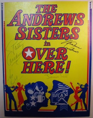 Signed Program. ANDREWS SISTERS.