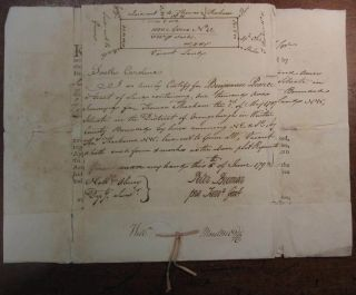 Autographed Partly Printed Document Signed