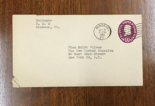 "Typed Letter, signed ""Jerry"" to Edith Oliver at the New Yorker Magazine."
