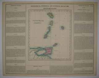 Geographical, Statistical, and Historical Map of the Windward Islands. CAREY, LEA
