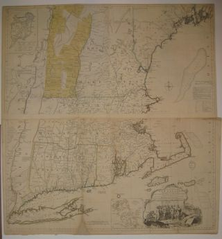 A Map of the most Inhabited part of New England, containing the Provinces of Massachusets Bay and...