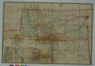 Map of the Territory of Montana with Portions of the Adjoining Territories. W. W. DE LACY