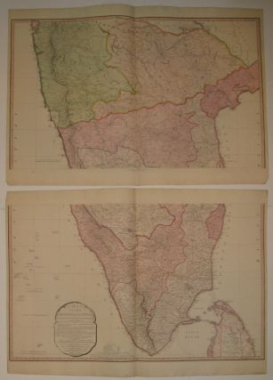 A Map of the Peninsula of India from the 19th Degree North Latitude to Cape Comorin. William FADEN.