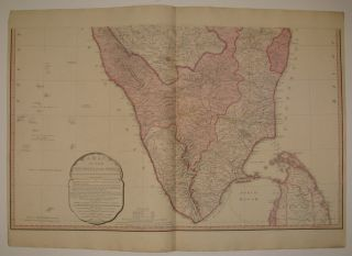 A Map of the Peninsula of India from the 19th Degree North Latitude to Cape Comorin.