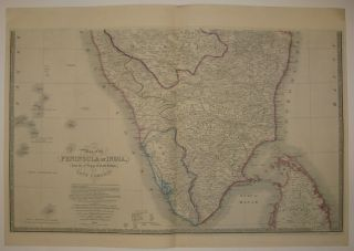 Map of the Peninsula of India, from the 19th Degree of North Latitude to Cape Comorin.