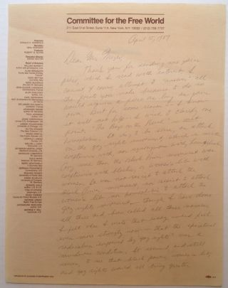 Autographed Letter Signed to a lawyer. Midge DECTER, 1927