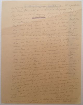 Autographed Letter Signed to a lawyer
