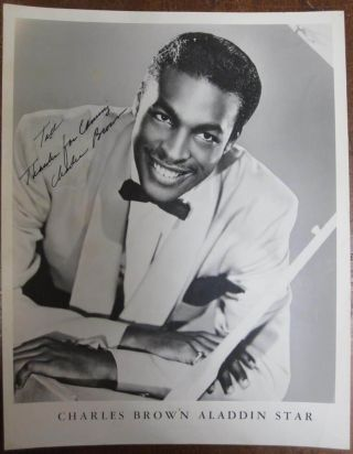 Signed Photograph. Charles BROWN, 1922 - 1999