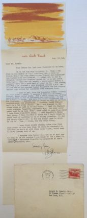 Professionally Revealing Typed Letter Signed. S. N. BEHRMAN, 1893 - 1973.