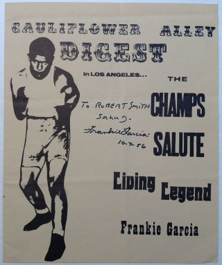 Signed induction program of the World Featherweight Champion. Frankie GARCIA.