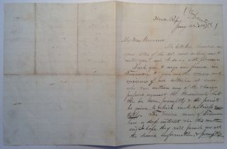 Autographed Letter Signed soliciting witnesses for Andrew Johnson's impeachment trial. James...