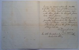 Autographed Letter Signed soliciting witnesses for Andrew Johnson's impeachment trial