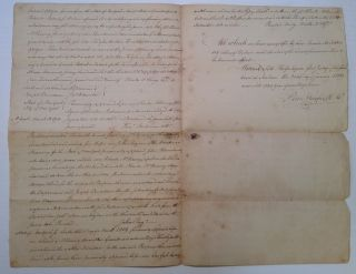 Signed Document regarding the purchase of land from a Revolutionary War veteran