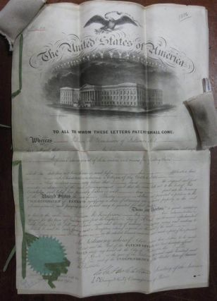 Original Patent with Drawings. William M. HENDERSON