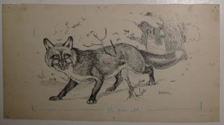 Untitled (The Red Fox). Horace Boylston DUMMER