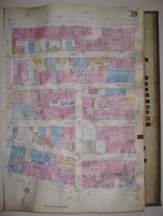 Vol. 9 of 29 Atlases of Insurance Maps for Brooklyn. East Williamsburg & Bushwick. SANBORN MAP COMPANY.