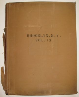 Vol. 13 of 29 Atlases of Insurance Maps for Brooklyn. Flatbush & Brooklyn College