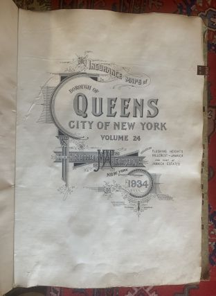 Vol. 24 of 29 Atlases of Insurance Maps for Queens. Flushing Heights & Jamaica